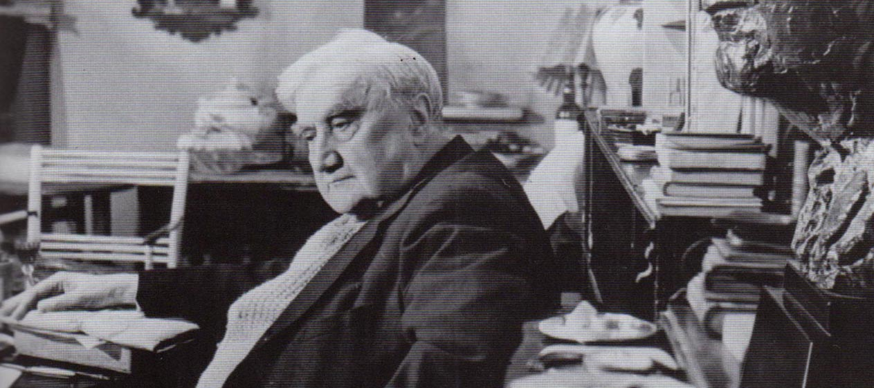 Vaughan Williams at The White Gates with Epstein bust